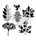 The Crafter\u0027s Workshop Rebekah Meier 6\u0027\u0027x6\u0027\u0027 Stencil-Leaf Collection