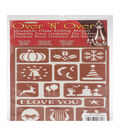 Over \u0027N\u0027 Over Reusable Stencils 5\u0022X8\u0022-Holiday Assorted