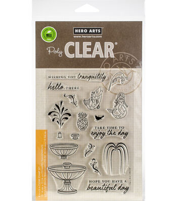 Hero Arts 18 pk Clear Stamps-Make a Fountain