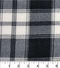 Anti-Pill Fleece Fabric 57\u0022-Bedford White Black Plaid