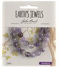 Earth\u0027s Jewels Semi-Precious Round 8mm Beads-Amethyst