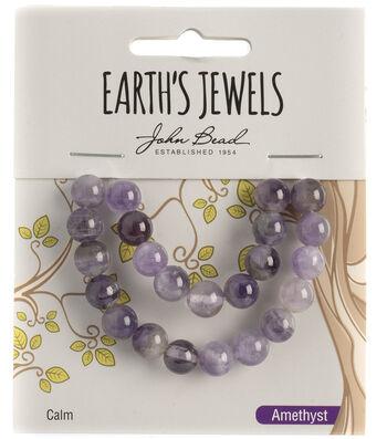 Earth's Jewels Semi-Precious Round 8mm Beads-Amethyst