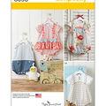 Simplicity Patterns 8098A Infants\u0027 Rompers & Sandals-Size XXS-L