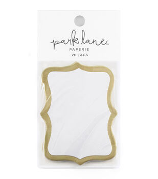 Park Lane 20 pk Cartouche Tags-Gold