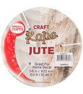 Pepperell Braiding Company 0.38\u0027\u0027x100\u0027 Craft Jute Rope-Natural