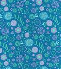 Snuggle Flannel Fabric 42\u0027\u0027-Bloom Floral
