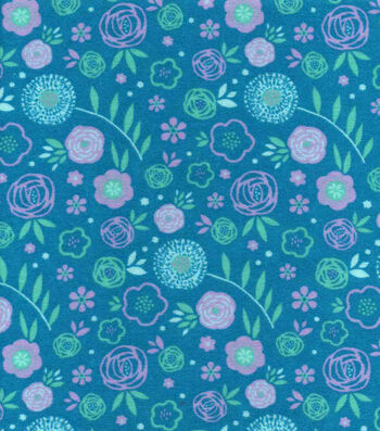 Snuggle Flannel Fabric 42''-Bloom Floral