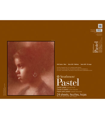 """Strathmore Assorted Color Pastel Paper Pad 18""""X24""""-80lb 24 Sheets"""
