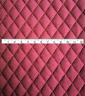 Varsity Club Quilted Knit Fabric -Wine