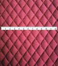 Varsity Club Quilted Knit Fabric 55\u0022-Wine