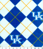 "University of Kentucky Wildcats Fleece Fabric 58""-Argyle, , hi-res"