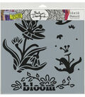 The Crafter\u0027s Workshop Julie Fei-Fan Balze Stencil-Layered Bloom