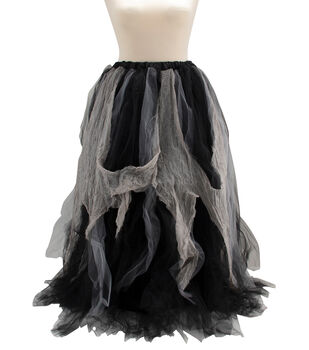 Maker's Halloween Adult Costume-Tutu Long Black And Gray