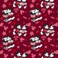 Disney Valentine\u0027s Day Mickey & Minnie Cotton Fabric-Love