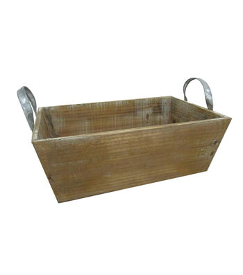 Blooming Autumn Large Wood Rectangle Planter