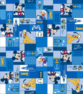 Disney Mickey & Friends Flannel Fabric 42\u0022-True Pals Patch