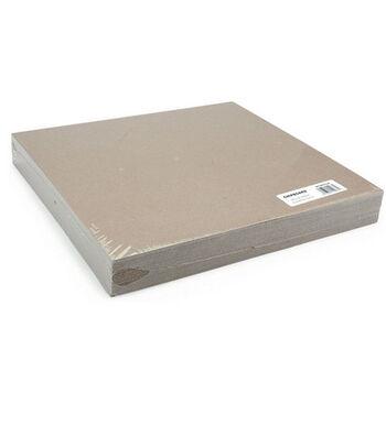 """Grafix 12""""x12"""" Medium Weight Chipboard Sheets-25PK/Natural"""