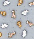 Nursery Cotton Fabric 43\u0022-Safari Tossed Animals