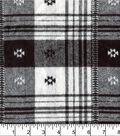 Plaiditudes Brushed Cotton Fabric -Southwest Black White