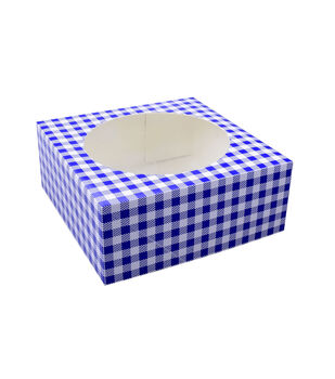 Land of the Free Baking Patriotic 2 pk Pie Boxes-Blue Gingham