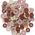 Favorite Findings 130 pk Round Buttons-Vintage