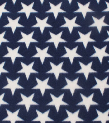 "Blizzard Fleece Fabric 59""-Stars On Navy"