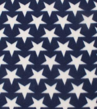 Blizzard Fleece Fabric -Stars On Navy