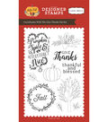 Carta Bella Stamp 4\u0022X6\u0022-Give Thanks, Coordinates W/HF70044