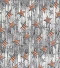 Patriotic Cotton Fabric-Glavanized Stars on Wood Plank