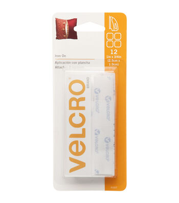 VELCRO Brand 0.75''x1'' Fabric Fusion Heat-Activated Adhesive