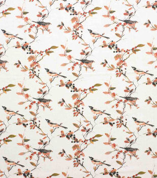 Super Snuggle Flannel Fabric-Birds & Fall Leaves