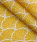 100% Linen Fabric-Mimosa Shell Print