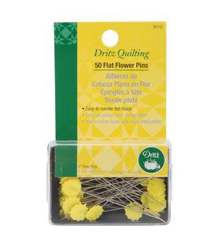 Dritz Quilting Flat Flower Pins -Size 32 50/Pkg
