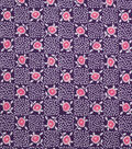 1930\u0027s Cotton Fabric 43\u0022-Floral Checkers Purple
