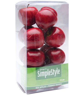 Design It Simple Decorative Fruit-Mini Red Apples