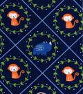 Nursery Flannel Fabric -Safari Ring