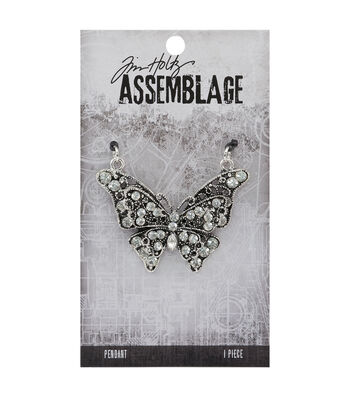 Tim Holtz Assemblage 2''x1.5'' Butterfly Pendant