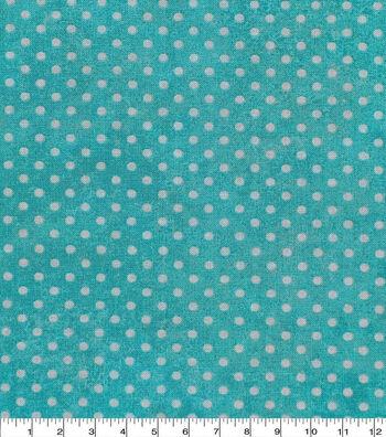 Keepsake Calico Cotton Fabric -Dot Texture Turquoise