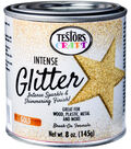 Testors 8 oz. Intense Glitter Paint-Gold
