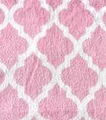 Terry Cloth Fabric 45\u0022-Pink Quatrefoil