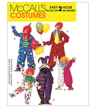 McCall's Pattern M6142 Adult & Childrens' Clown Costumes
