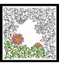 Design Works Zenbroidery Stamped Picture Kit-Garden