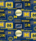 University of Michigan Wolverines Cotton Fabric 44\u0022-Packed Patches