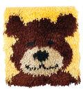 Shaggy Latch Hook Kit 12\u0022X12\u0022-Teddy