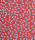 1930\u0027s Cotton Fabric 43\u0022-Tossed Buttons Coral