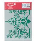 Stamperia Stencil G 8.27\u0027\u0027x11.69\u0027\u0027-Flowers & Leaves Decor