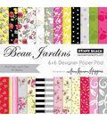 Penny Black Beau Jardins Paper Pad 6\u0027\u0027x6\u0027\u0027