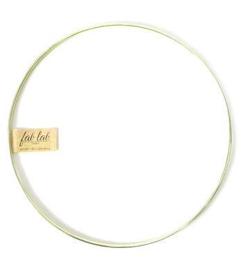 """Darice 10"""" Metal Macrame Ring-Gold"""