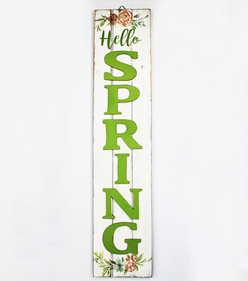 Hello Spring Vertical 3D Wall Decor-Hello Spring