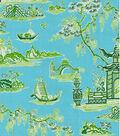 Waverly Lightweight Decor Fabric 54\u0022-Peaceful Temple/Blossom